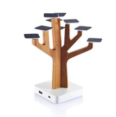 Sun Tree Solar Charger  Solar Suntree by XD Design is a charging station for mobile phones and MP3-players and a real eye-catcher on every desk. Solar Suntree gets its energy by 9 solar sheets that charge a rechargeable battery inside of it. The solar charging station has a mini USB port and an USB output.  The stem of the environment friendly Solar Suntree consists of handmade bamboo wood. Learn more, buy or just see other great gadgets at http://coolnewgadgets.biz