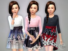 The Sims Resource: Winter Dress by lillka • Sims 4 Downloads