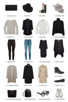 What to wear in Paris in winter or fall? Check our Paris Packing List Fall & Paris Packing List Winter. How to Pack for Paris & how to dress like a Parisian Paris Outfits, Mode Outfits, Winter Outfits, Winter Travel Outfit, Summer Outfits, Girl Outfits, Casual Outfits, Dress Like A Parisian, Parisian Style