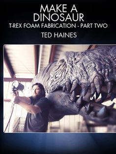 Learn how to make a dinosaur. FX artist Ted Haines teaches you how to carve teeth and add detail and texture to your foam T-Rex Head.
