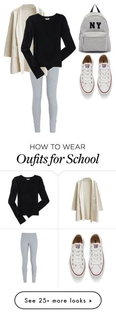 """school#2"" by barbaraa-escalantee on Polyvore featuring NIKE, Aéropostale, Joshua's, Converse, women's clothing, women, female, woman, misses and juniors"