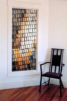 Could do this with individually fused sections - Stained glass window by Paul Housberg