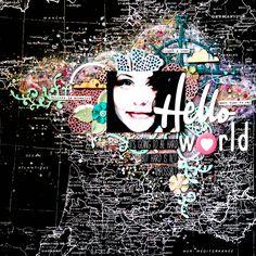 Hello world - mixedmedia layout