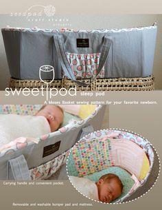 OH MY CUTENESS! SweetPod sleep pod Moses basket PDF pattern by seedpod on Etsy, $14.00
