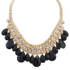 Cheap Nuevo modelo de moda collar dorado mujer venta de bohemia OL multilayer la borla de las gotitas collar de cadena de 109363 N, Compro Calidad Gargantillas directamente de los surtidores de China:                                                                          [        Tamaño]