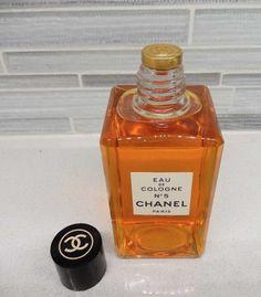 c70845c875e5 Vintage Chanel No 5 eau De Cologne GOLD SEALED 4 oz by gypsytejas on Etsy