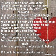"-- #LyricArt for ""Beer With Jesus"" by Thomas Rhett"