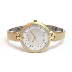 Boccia Titanium Bangle style watch w/Gold plating - 3164-05