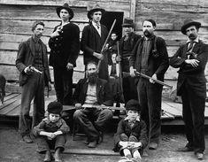 The Hatfield clan in 1897. (Hatfield–McCoy feud)