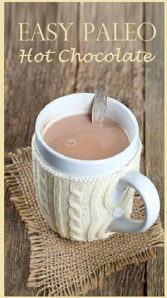 Are chocolate cravings getting the best of you?  This at-home recipe for my Paleo hot chocolate mix may be just what you need.