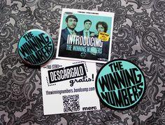 The Winning Numbers. Pack promo con chapa, pegatina y descarga gratuíta.