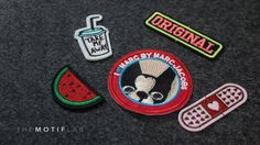 Be different and stand out from others! Tap into your creativity and design your personal sleeve with our iron-on patch. Mix and match to suit your style! Get yours at www.facebook.com/themotiflab