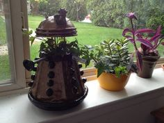 Dalek flower pot.  I need to make one.