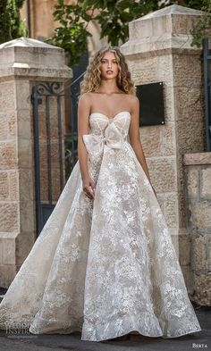 berta fall 2021 bridal strapless sweetheart neckline fully embellished lace a line ball gown wedding dress chapel train (9) mv -- Berta Fall 2021 Wedding Dresses | Wedding Inspirasi #wedding #weddings #bridal #weddingdress #weddingdresses #bride #fashion #collection:Colony #label:Berta #season:Fall/Winter #week:432020 #year:2021 ~ Bridal Looks, Bridal Style, Bridal Dresses, Wedding Gowns, Wedding Art, Berta Bridal, Princess Ball Gowns, Lace Ball Gowns, Bridal Collection