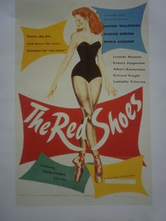 """THE RED SHOES # RE-PRINT # CINEMA RELEASE ADVERT # 12"""" x 9"""""""