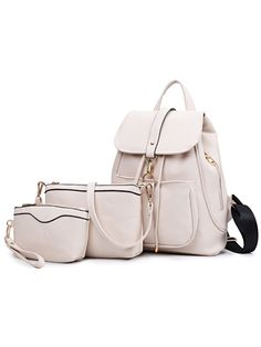Shop Embossed Faux Leather 3PCS Bag Set - White online. SheIn offers Embossed Faux Leather 3PCS Bag Set - White & more to fit your fashionable needs.