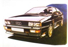 Audi Quattro, Martin Smith's final rendering of what would become the Quattro