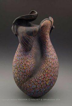 Melanie FERGUSON Portfolios | Tender Point | Handbuilt stoneware, sgraffito through pigmented slip, hand rubbed beeswax finish