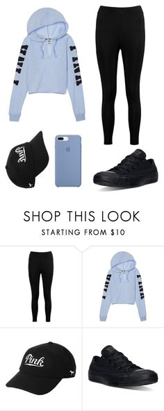 """""""12"""" by sacirao ❤ liked on Polyvore featuring Boohoo, Victoria's Secret and Converse"""