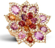 RED SUNDAY RING  $16,101  18kt. Rose gold 138 RD 1.49ct/ 17 Tourmalines and Garnets 8.35ct