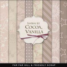 Far Far Hill: Freebies Background Kit - Сocoa, Vanilla