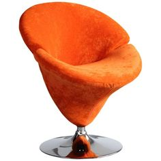 I pinned this Tulip Accent Chair from the Colorwheel: Mandarin & Mint event at Joss and Main!