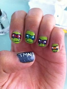 What do you think of these #TMNT nails? Pretty radical, huh?