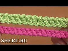Шнур гусеничка связанный необычным способом Урок 94 Crochet Cord Romania...