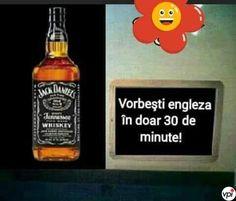 Cum sa inveti engleza rapid - Viral Pe Internet Whiskey Bottle, Ale, Jokes, Humor, Funny, Internet, Husky Jokes, Ale Beer, Humour
