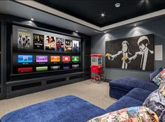 Home Theater Ideas: home theater planejado (home theater basement) #HomeTheater #Basement