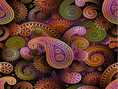 Paisley — nice designs that could be adapted to felt/wool embroidery. Pattern Paisley — nice designs that could be adapted to felt/wool embroidery. Paisley Art, Paisley Design, Paisley Pattern, Wallpaper Backgrounds, Iphone Wallpaper, Paisley Wallpaper, Wallpaper Ideas, Pattern Wallpaper, Posca Art