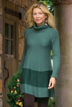 Color Block Sweater I from Soft Surroundings- idea to lengthen short top/sweater