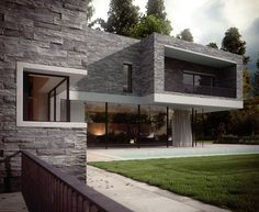 Modern house | Flickr - Photo Sharing!  proper discplacement Vals stones
