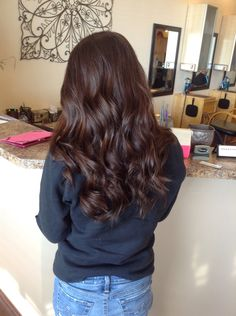 Chocolate brown hair color!
