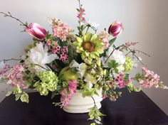 Pinks and greens !