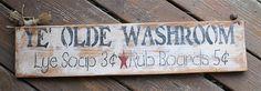 Ye Olde Washroom Lye Soap Rub Boards by AmericasFrontPorch on Etsy, $22.00