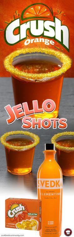 ORANGE CRUSH JELLO SHOTS - Orange Vodka, Orange Crush Jello