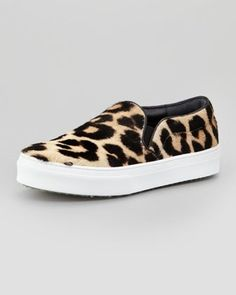 WANT!!!! Anyone know where I can get these now?they are sold out everywhere.  Celine Leopard Print Calf Hair Slip-on Sneakers Photograph