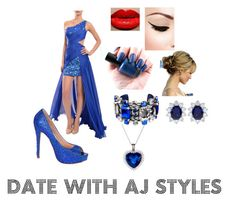 """Date with Aj S"" by ultimate-fangirl-99 ❤ liked on Polyvore featuring Mac Duggal, Lauren Lorraine, La Perla and CARAT* London"