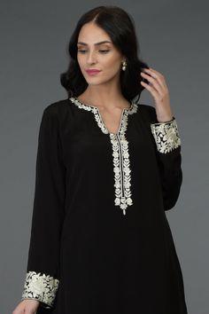 Product Zoom Long Dress Design, Stylish Dress Designs, Stylish Dresses, Pakistani Fashion Party Wear, Indian Fashion, Patiala Pants, Saree Sale, Kurta Neck Design, Embroidery Suits Design
