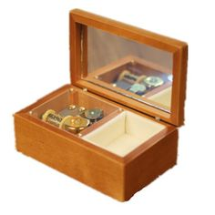 Lily Garden Wooden Mechanical Music Box Jewelry Box with Mirror swan lake * You can get additional details at the image link.