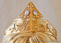 Sleeping Beauty Adult Costume 2013 Styled Metal Crown Swirl Embellished Crystals by Bbeauty79 on Etsy