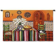 """La Siesta Del Gato Wall Hanging 53"""" x 40"""" #BeddingNMore #Southwestern #Home #Decor"""