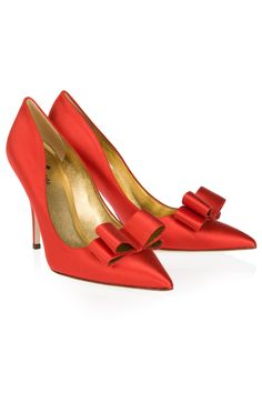Coral Satin Heels by Kate Spade- coral? Ummm okay. Who cares when they're this pretty, though?
