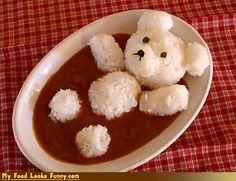 arroz com feijão muito fofo!!
