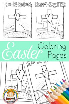 Easter Bible Coloring Pages via sunday school lessons for toddler Easter Bible Coloring Pages Easter Jesus Crafts, Easter Crafts For Toddlers, Easter Art, Jesus Easter, Easter Activities, Easter Coloring Sheets, Easter Colouring, Adult Coloring, Preschool Coloring Pages
