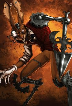 Alice madness returns - The March Hare by fiszike