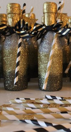 The perfect glittered Champagne bottle for NYE