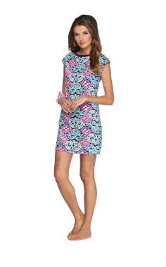 Robyn Short Sleeve Dress in Bright Navy Behind The Gate // Lilly Pulitzer