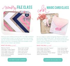 Hello Today on-line class with Heidi Swapp - Memory File and Colour Magic Card